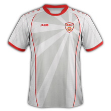 Maillot de foot de macedoine maillot exterieur Euro 2020