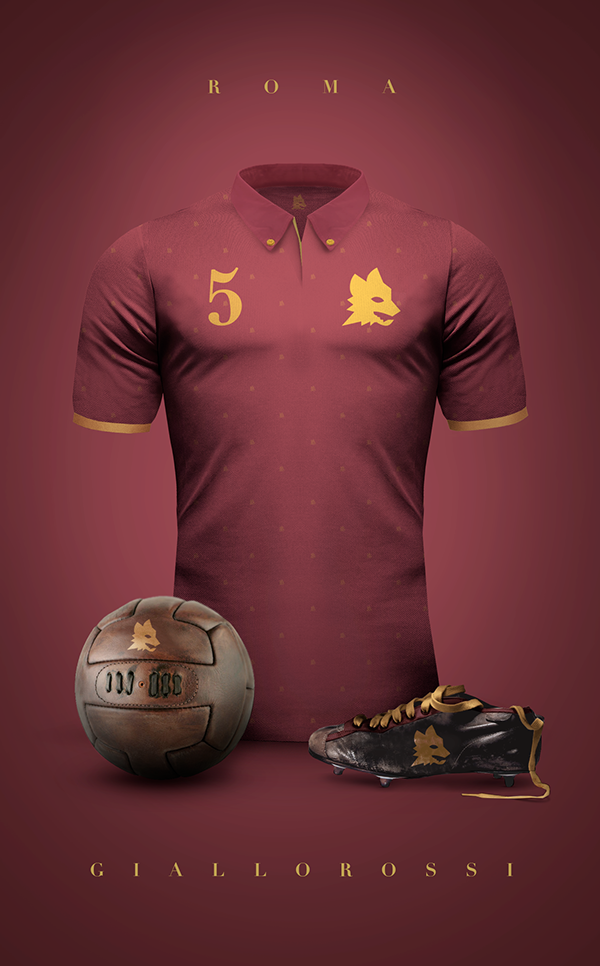 AS Roma maillot vintage football
