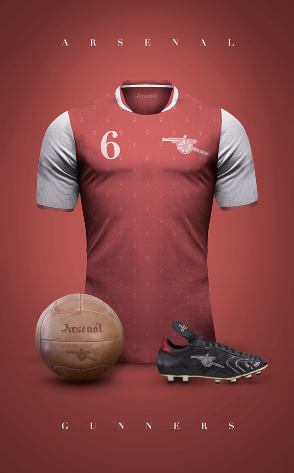 Arsenal maillot foot vintage