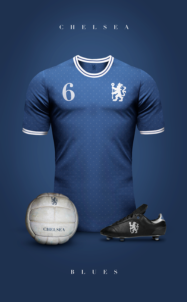 Chelsea maillot foot vintage