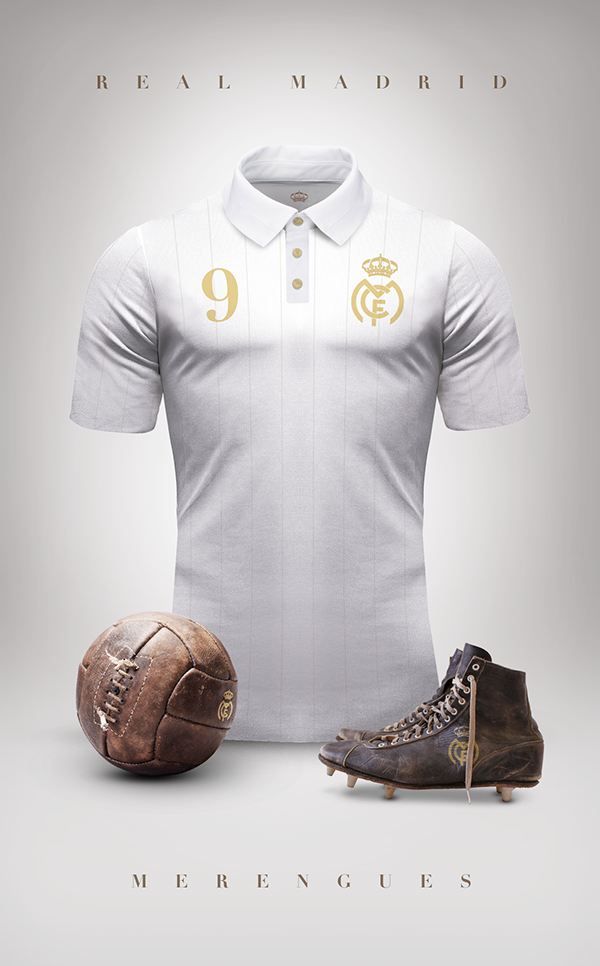 Maillot foot vintage Real Madrid