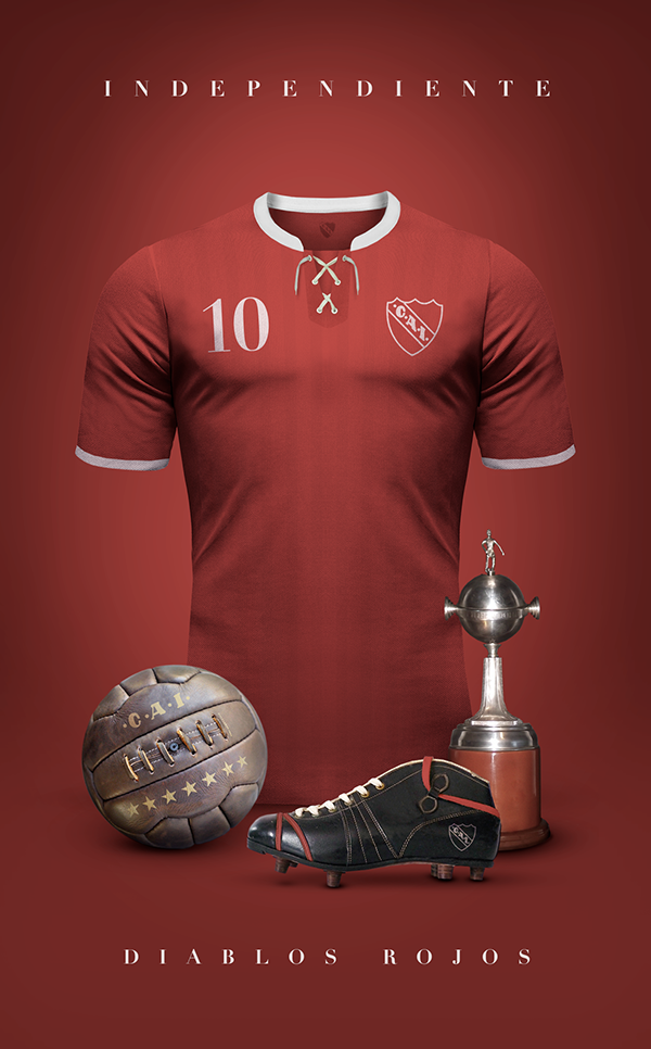 Maillot vintage football Independiente