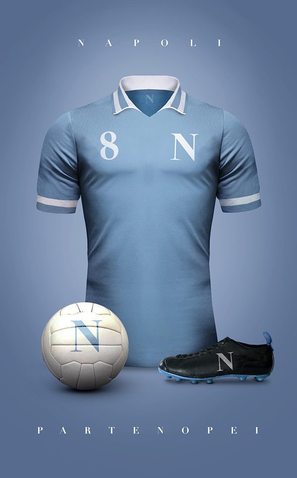 Naples maillot foot vintage