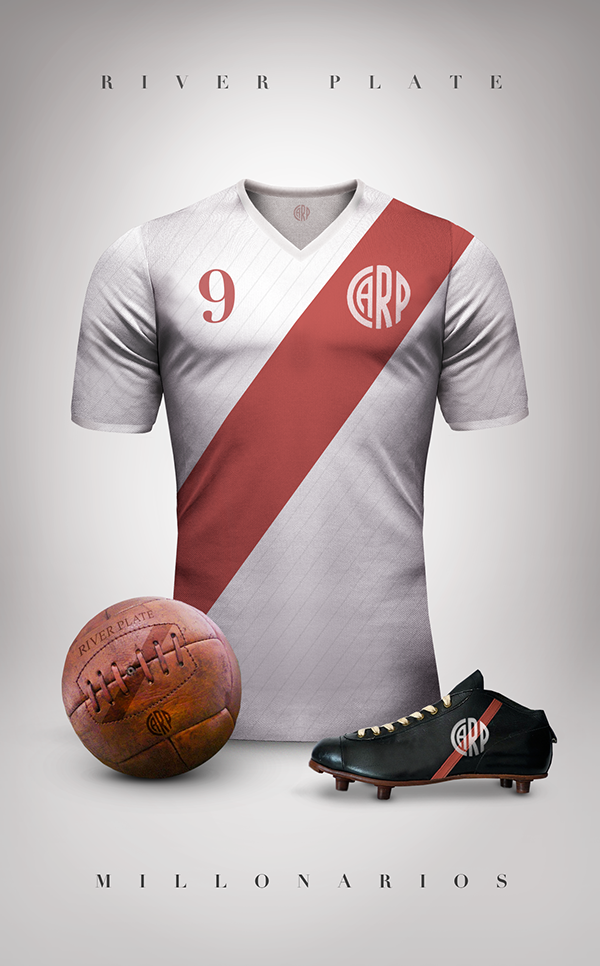 Maillot foot River Plate vintage
