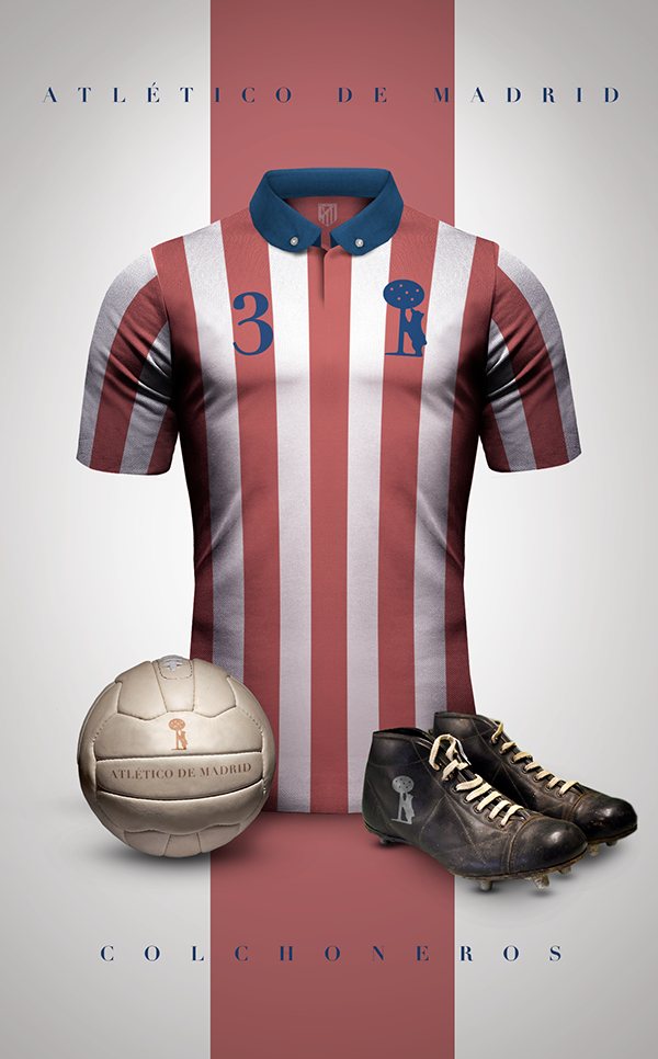 Maillot foot vintage Atletico Madrid