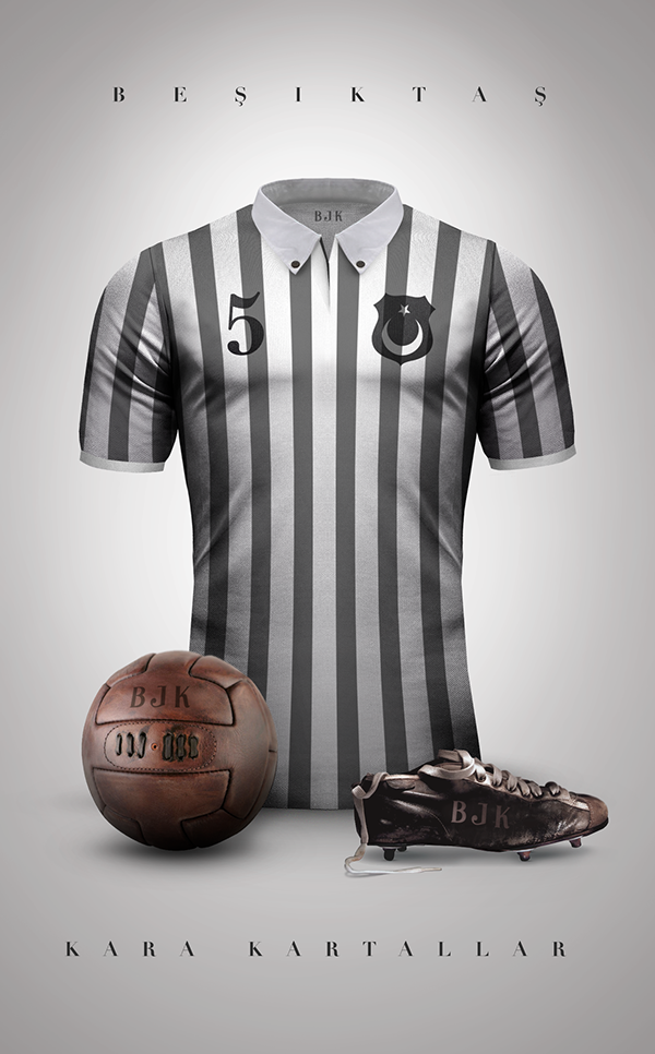 Maillot foot vintage Besiktas