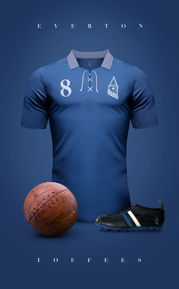 Maillot foot vintage Everton