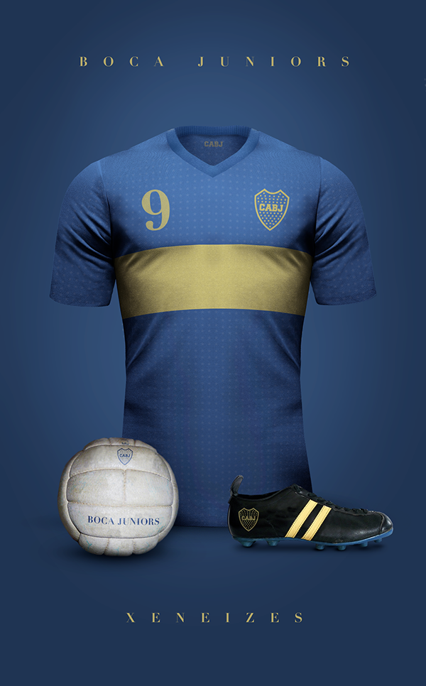 Maillot vintage football Boca Junior