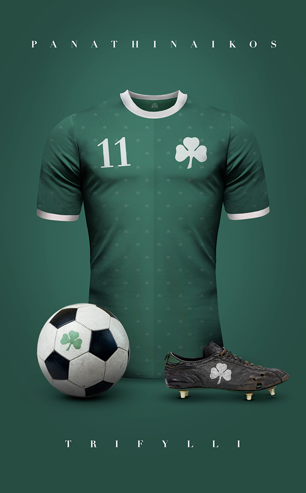 Panathinaikos maillot de football vintage retro